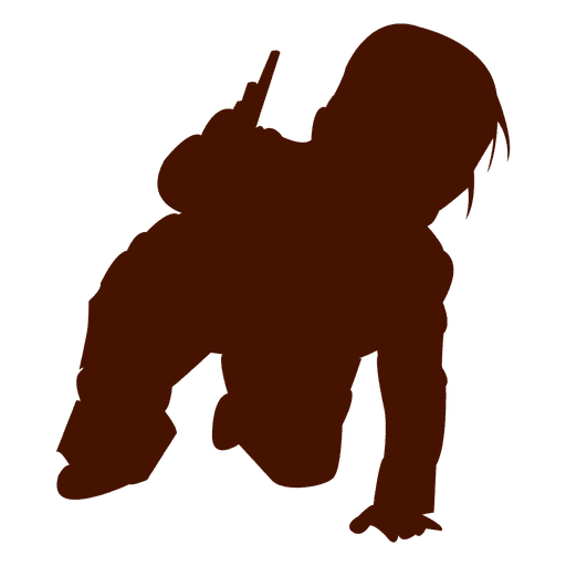 Child playing knees silhouette Transparent PNG