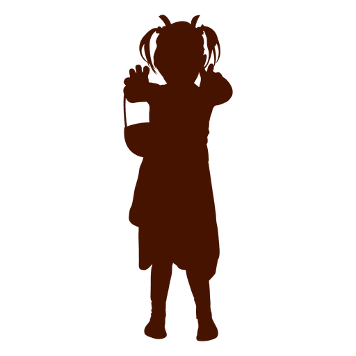 Diseño de silueta de niña jugando