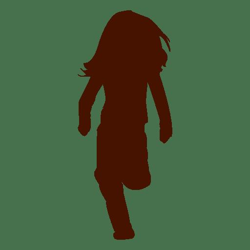 Diseño de silueta de niña corriendo