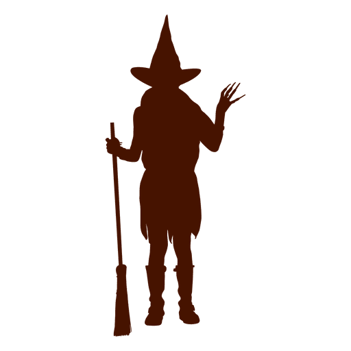 Kid witch costume silhouette Transparent PNG