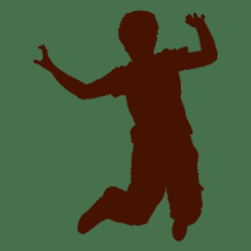 Muchacho adolescente bailando silueta Transparent PNG