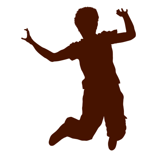 Teen boy dancing silhouette Transparent PNG
