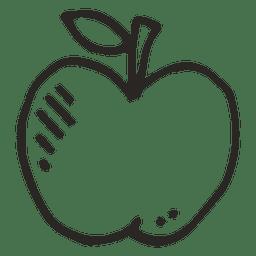 Comida de frutas de maçã