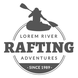 Badge rafting label hipster
