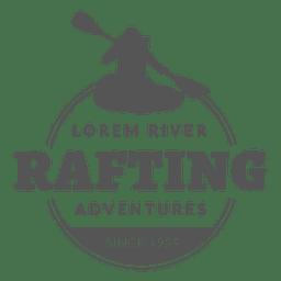 Insignia rafting etiqueta hipster