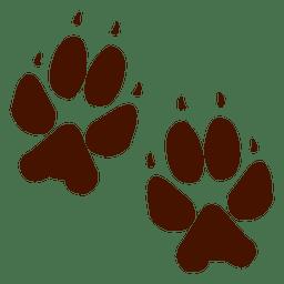 huella de animales oso