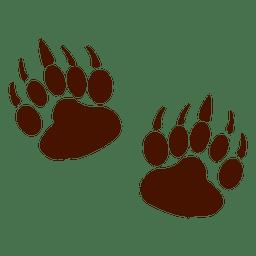Pegadas de animais urso