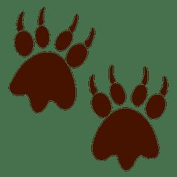 animales huella de oso