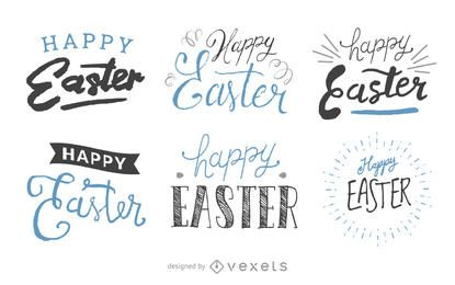 Set of handwritten Easter labels