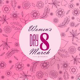 postal 8 de marzo Día de la Mujer