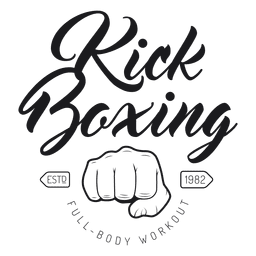 Boxing kickboxing fight logo emblem