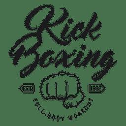 Emblema de logotipo de luta de boxe kickboxing