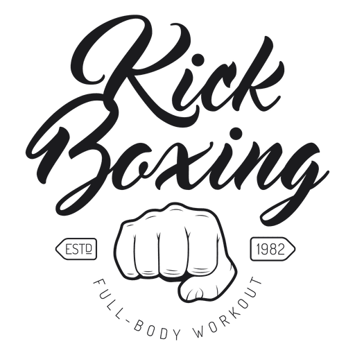 Boxing kickboxing fight logo emblem Transparent PNG