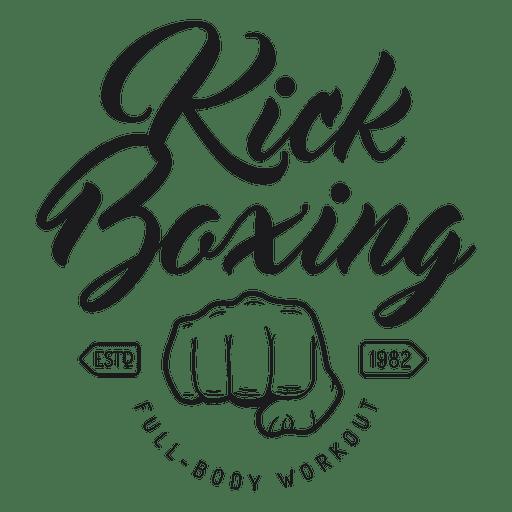 Emblema de logotipo de luta de boxe kickboxing Transparent PNG