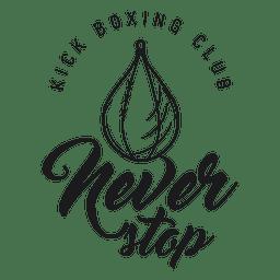 Luta de boxe kickboxing