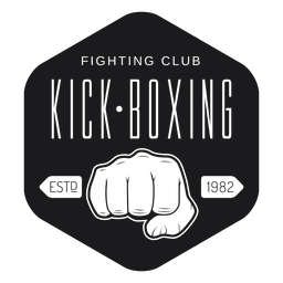 Kickboxing club logo