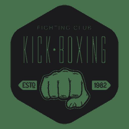 Logo del club de kickboxing Transparent PNG
