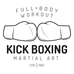 Boxing kickboxing fight label