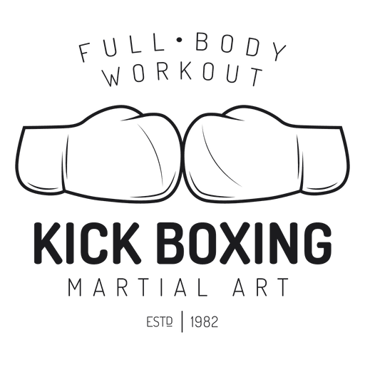 Boxing kickboxing fight label Transparent PNG