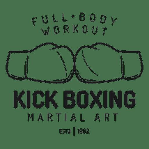 Boxing kickboxing fight label