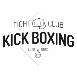 Boxing kickboxing fight label badge