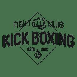 Emblema de rótulo de luta de boxe kickboxing