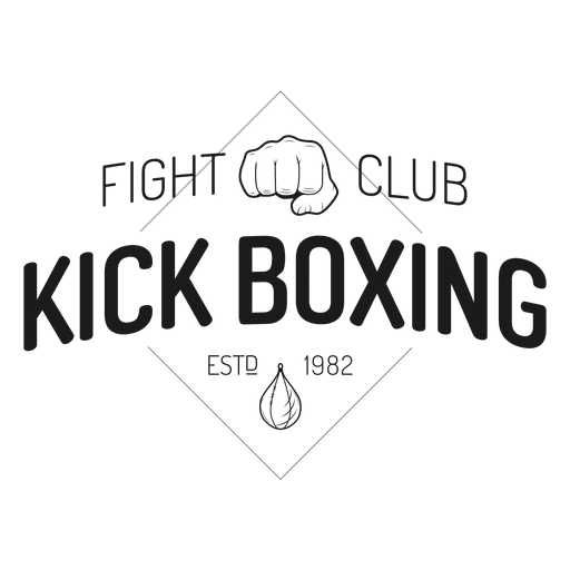 Boxing kickboxing fight label badge Transparent PNG