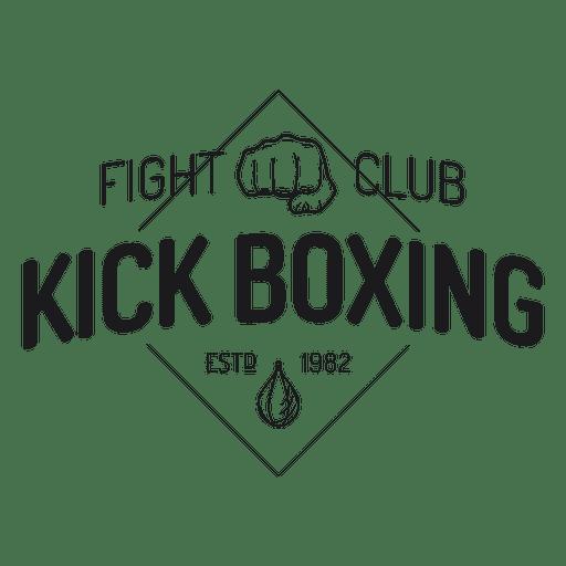 Boxing kickboxing fight label badge