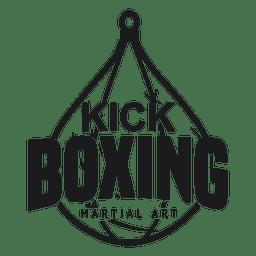 Boxeo kickboxing lucha etiqueta insignia del logotipo