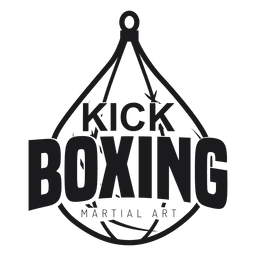 Etiqueta do emblema do logotipo da luta do kickboxing do encaixotamento