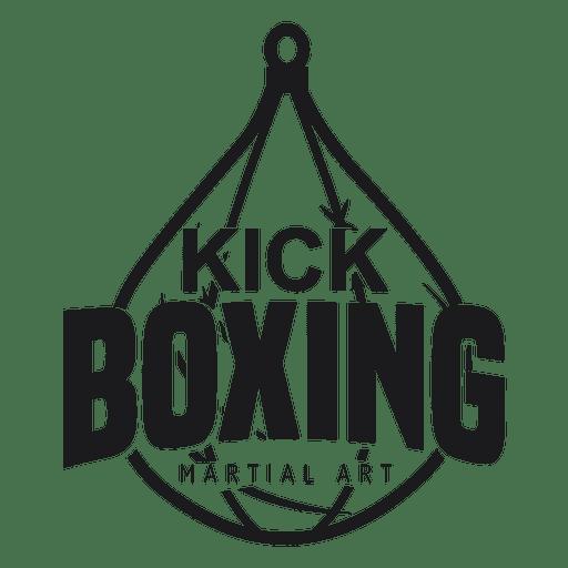 Boxing kickboxing fight logo badge label
