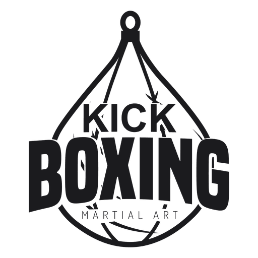 Etiqueta do emblema do logotipo da luta do kickboxing do encaixotamento Transparent PNG