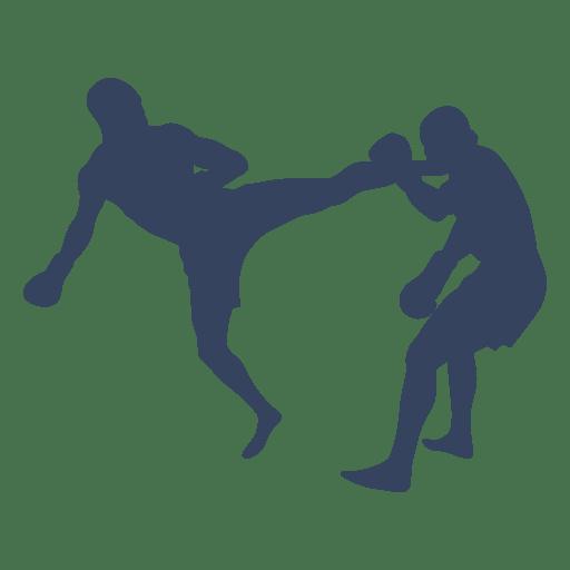 Silhueta de luta de boxe kickboxing Transparent PNG