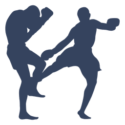 Boxeo kickboxing deporte silueta