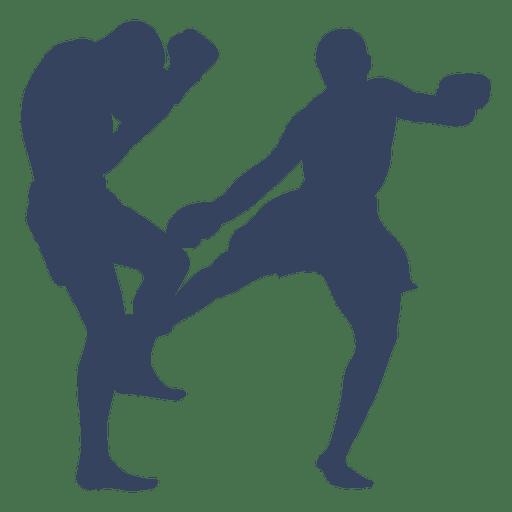 Boxeo kickboxing deporte silueta Transparent PNG