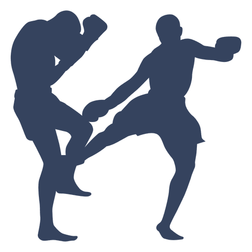 Boxing kickboxing sport silhouette Transparent PNG