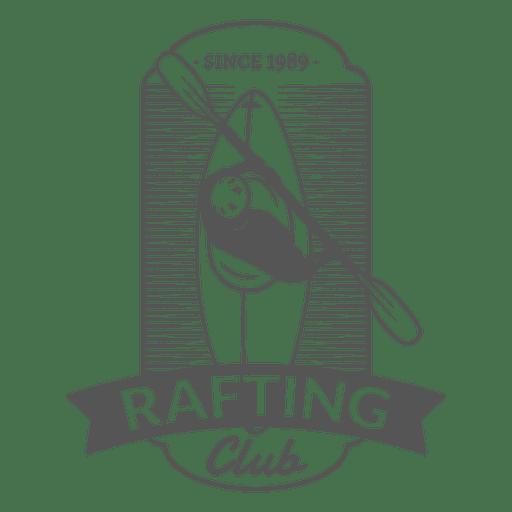 Canoe rafting hipster label badge Transparent PNG
