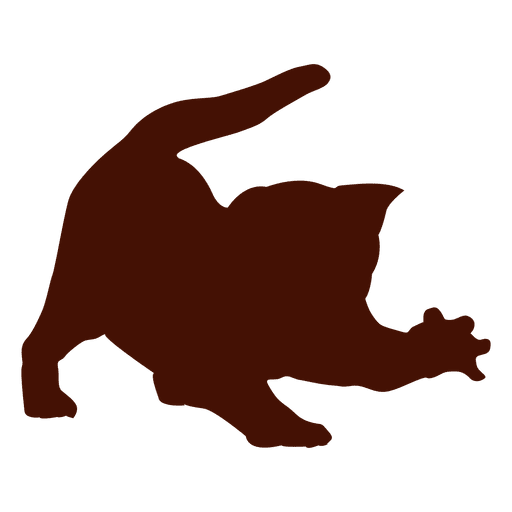 Cat pet angry silhouette