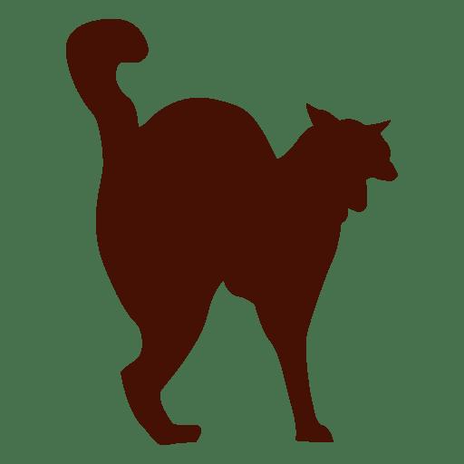 Gato mascota silueta