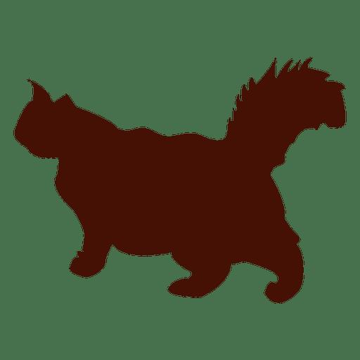 Silueta de mascota caminando gato grande