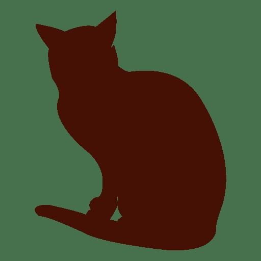 Sentado gato mascota silueta