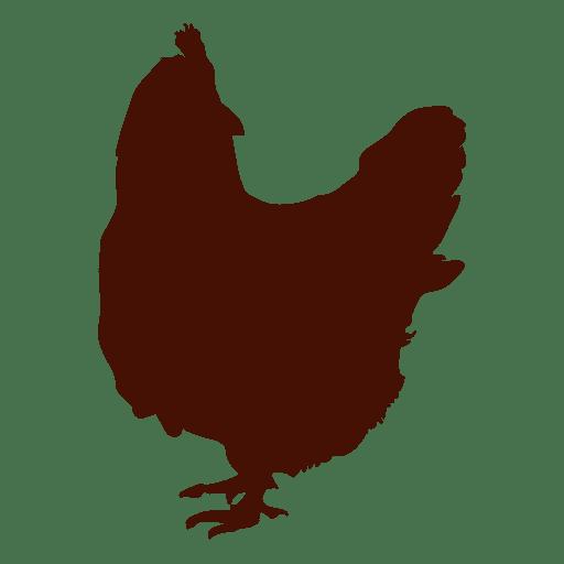 Silueta de granja de pollos Transparent PNG