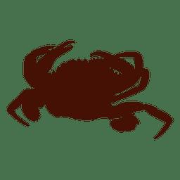 Ilustración de silueta de cangrejo