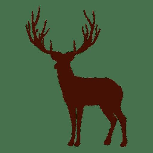 Silhueta de cervo