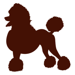 Dog poodle silhouette