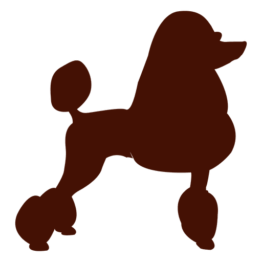 Silhueta de cachorro poodle