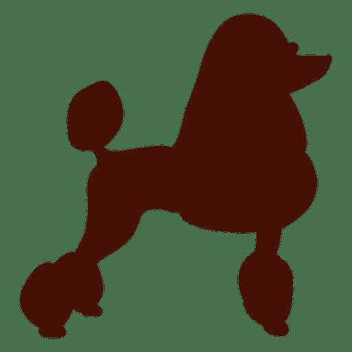 Silueta de perro caniche