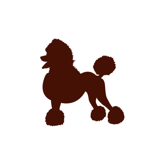 Caniche Perro En Silueta Roja Descargar Pngsvg Transparente