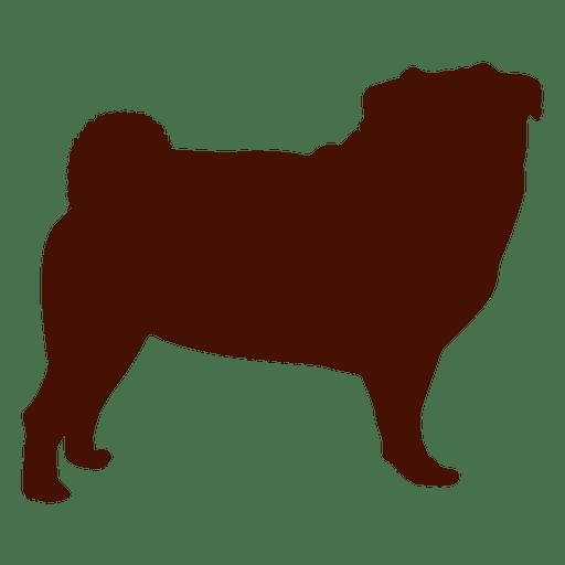 Dog pug silhouette Transparent PNG