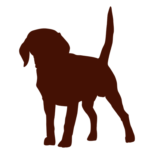 Puppy dog silhouette Transparent PNG